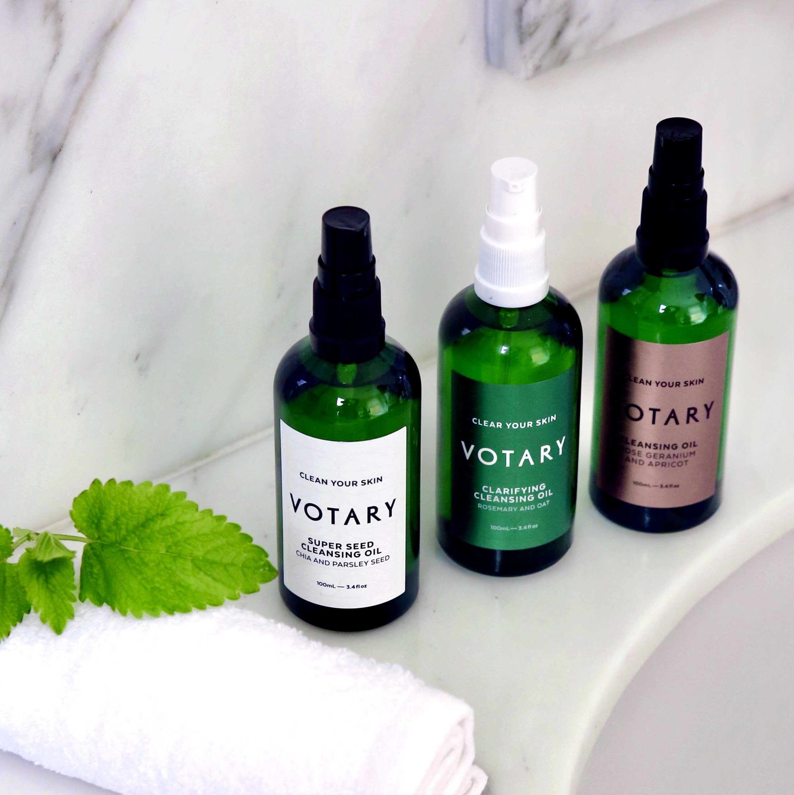 Votary Cleansing Oils. natural oil cleansing method