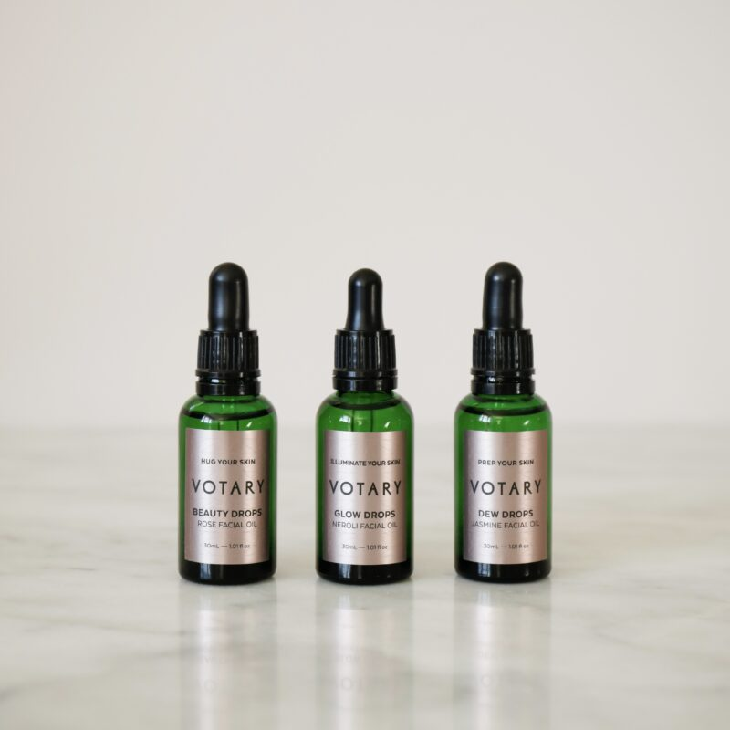 votary natural glow facial oil drops