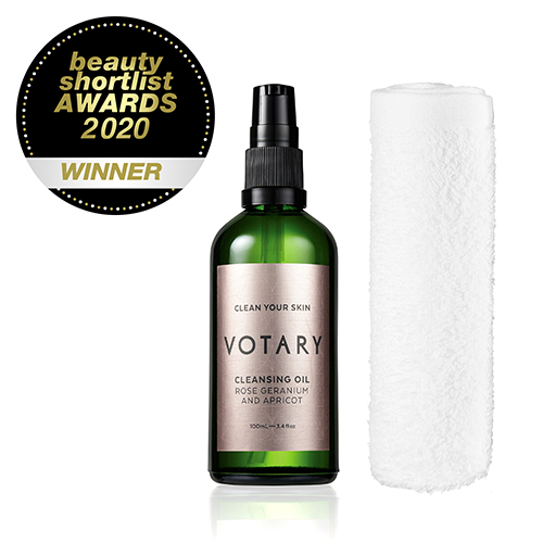 VOTARY Rose Geranium and Apricot Cleansing Oil wins Beauty Shortlist Awards 2020