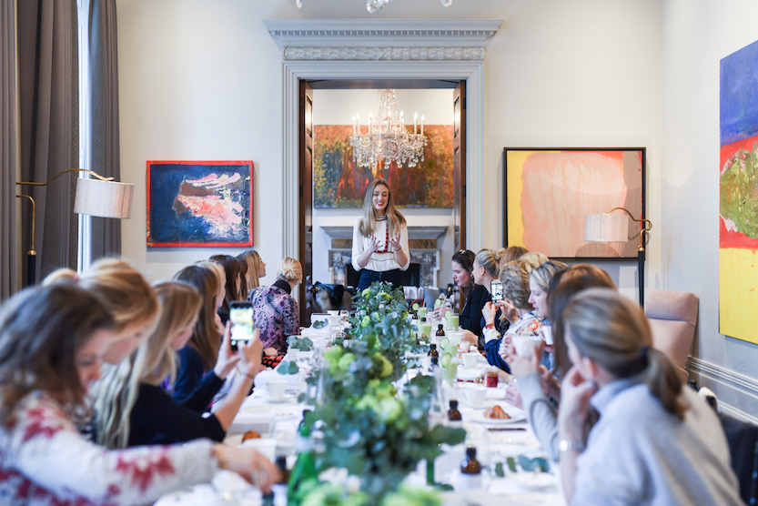 Arabella talks at the launch of Votary Super Seed Nutritional Supplement