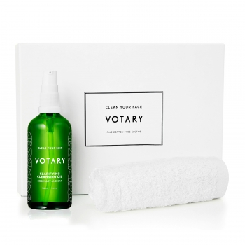 Votary Clarifying Cleansing Oil and Face Cloths Set