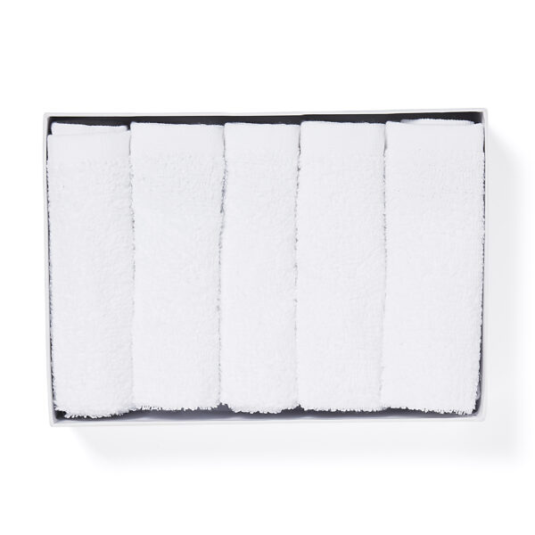 Pack of Five Cotton Face Cloths